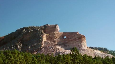 Crazy Horse Memorial Stock Video Footage