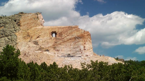 Crazy Horse Memorial stock footage