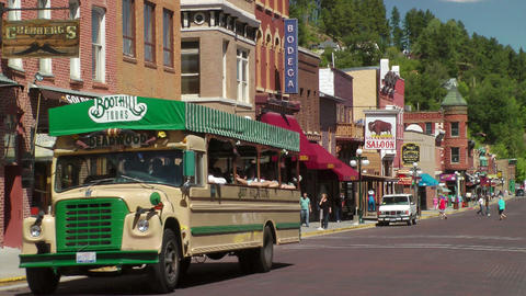 Deadwood Tour Bus Stock Video Footage