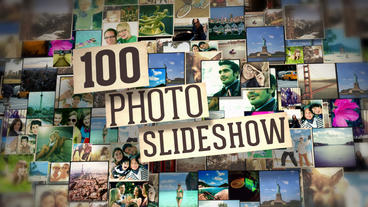 100 Photos Slide Show After Effects Project