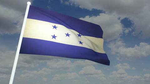 Flag Honduras 02 Stock Video Footage