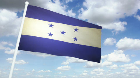 Flag Honduras 02 Stock Video Footage