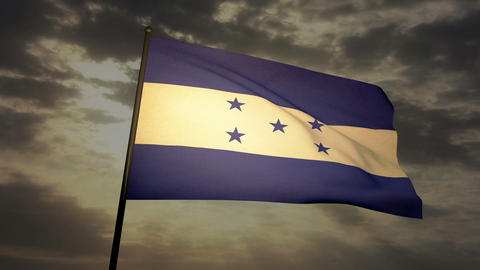 Flag Honduras 03 Stock Video Footage