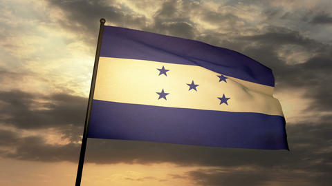 Flag Honduras 03 Animation