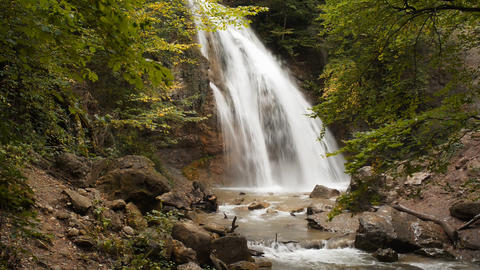 Waterfall, river, mountains, nature Stock Video Footage