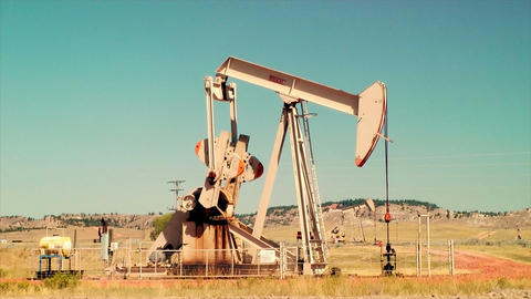 Pumpjack Pumping Oil Stock Video Footage