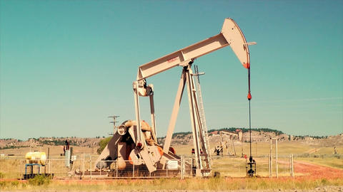 Pumpjack Pumping Oil Footage