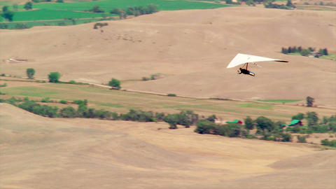 Hang Gliding stock footage