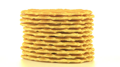 Pile of sweet waffles Stock Video Footage