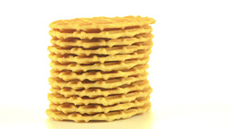 Pile of sweet waffles Footage