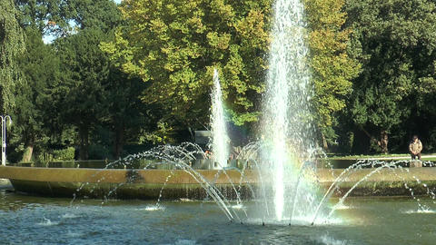 Fountains In Spa Park stock footage
