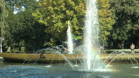 fountains in spa park Stock Video Footage