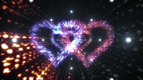 Heart Double Space Tunnel ac 5c 1 HD Animation