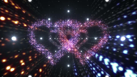 Heart Double Space Tunnel ac 5c 1 HD Stock Video Footage