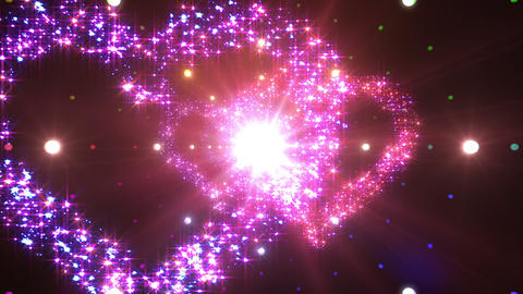 Heart Double Space Tunnel ac 5d 2 HD Stock Video Footage