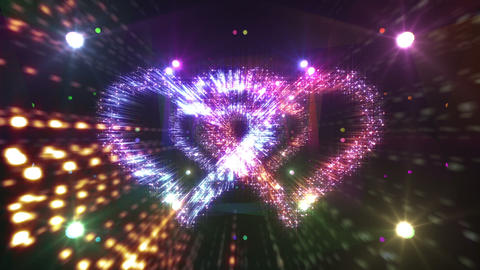 Heart Double Space Tunnel ac 6c 2 HD Stock Video Footage