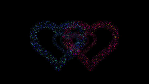 Heart Double tunnel Fa 1b F HD Animation