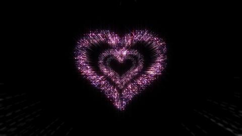 Heart Single tunnel A HD Stock Video Footage