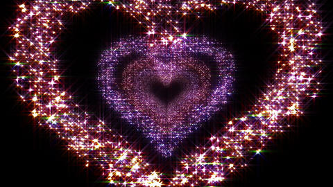 Heart Single tunnel B HD Stock Video Footage