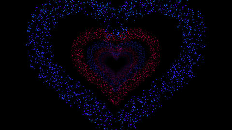 Heart Single tunnel Fb 2b HD Stock Video Footage
