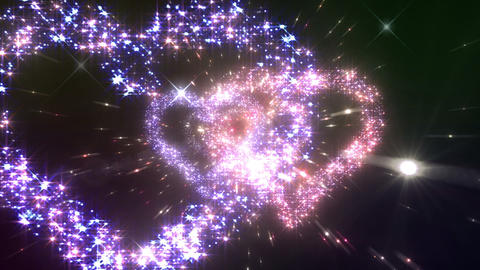 Space flash Heart Double c 4c HD Stock Video Footage