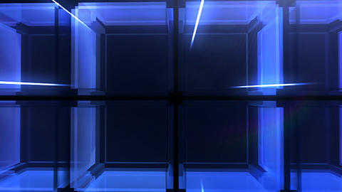 Blue Cube hd Stock Video Footage