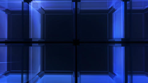 Blue Cube Hd stock footage