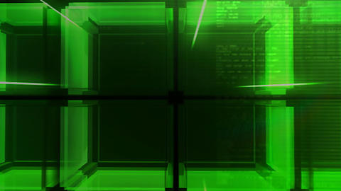 digital green Cube hd Stock Video Footage