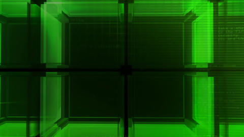 digital green Cube hd Animation