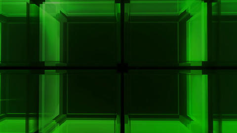 Green Cube hd Stock Video Footage