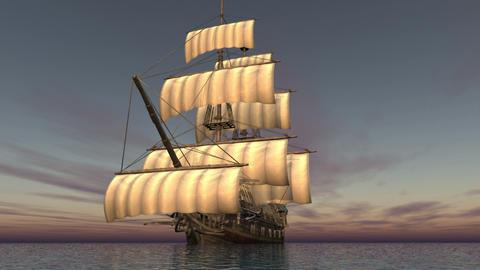 帆船 Animation