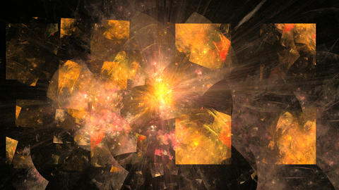 Abstract Rotating Orange Object on Black Stock Video Footage