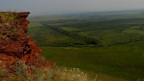 Khakassia chest panorama steadicam Stock Video Footage