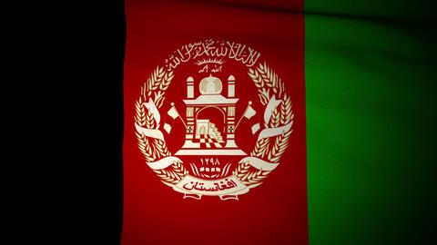 Flag Afghanistan 04 Stock Video Footage