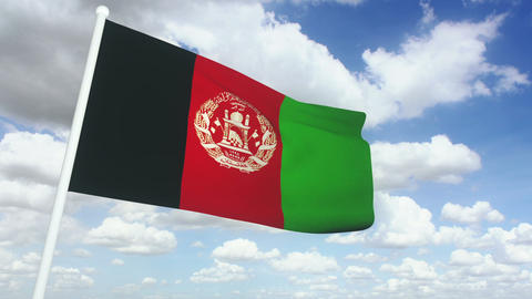 Flag afghanistan 02 Stock Video Footage