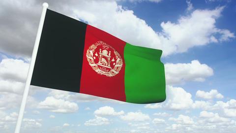 Flag afghanistan 02 Stock Video Footage