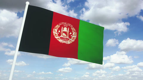 Flag afghanistan 02 Animation