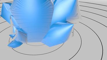 huge blue quartz reflect circle pulse curve Stock Video Footage