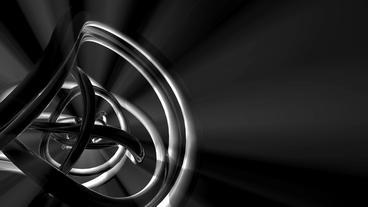 3d metallic steel tube twist waves,tech silver pipeline... Stock Video Footage