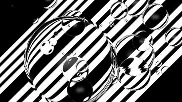 float water bubble against black & white stripe... Stock Video Footage