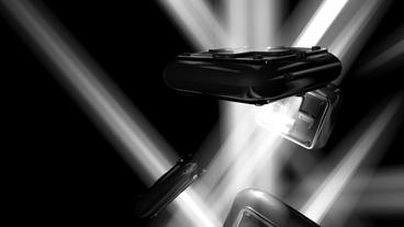 Modern futuristic sci-fi abstract light art,Cross pattern... Stock Video Footage