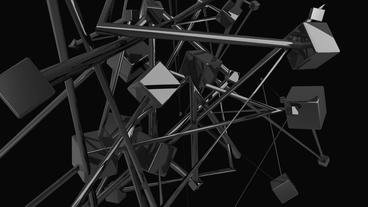 Abstract Futuristic high technology,Movement of metal... Stock Video Footage