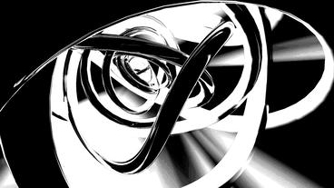 3d metallic steel tube twist waves,tech silver pipeline background Animation