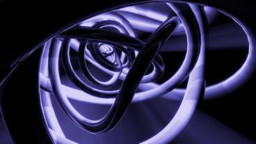 3d metallic steel tube twist waves,tech pipeline & blue rays light Animation
