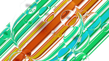 float water bubble against color stripe background Stock Video Footage