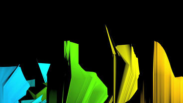 Dynamic abstract origami art,fold fabric material Stock Video Footage