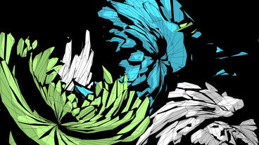Abstract feather pattern fluttering flying,fractal Animation