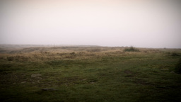 Misty Yorkshire Moor Monument stock footage