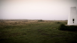 Misty Yorkshire Moor Monument Stock Video Footage
