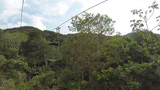 Cableway with air tram in the forest Footage